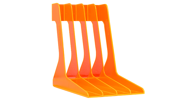 audio-anatomy_Record-Stand–orange-translucent_without-package