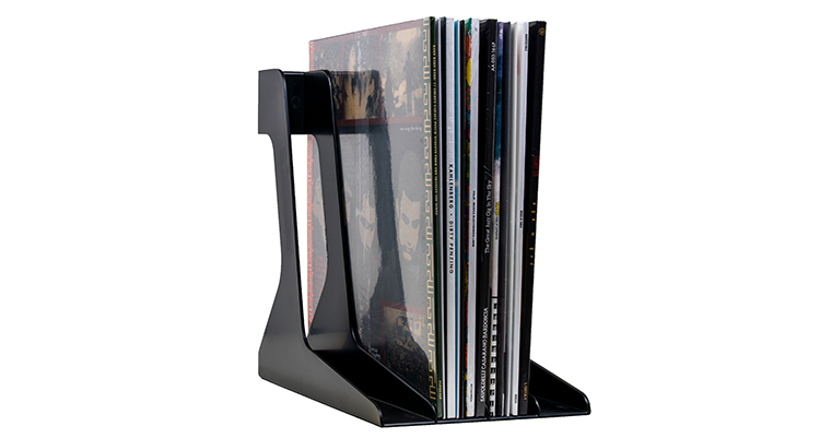 Vinyl Record Stand Black with Records