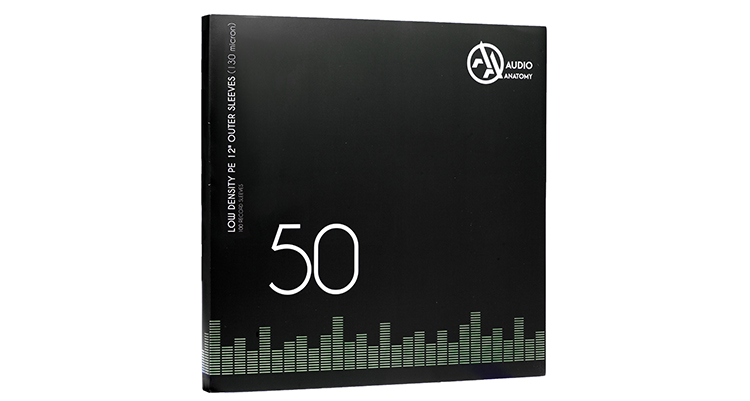 Vinyl Outer Sleeves 50 Pieces Audio Anatomy
