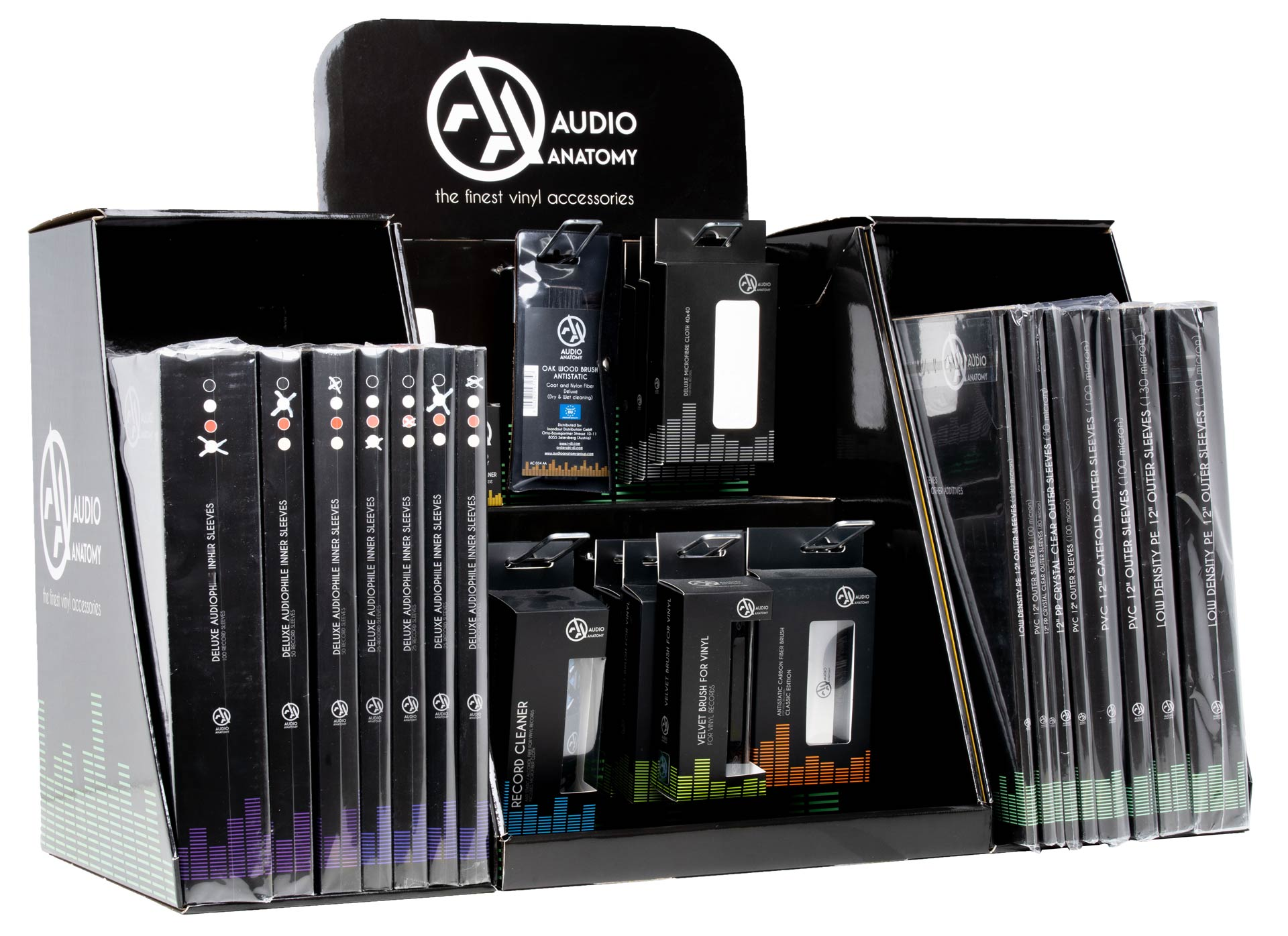 Vinyl Record Accessoires Set Display