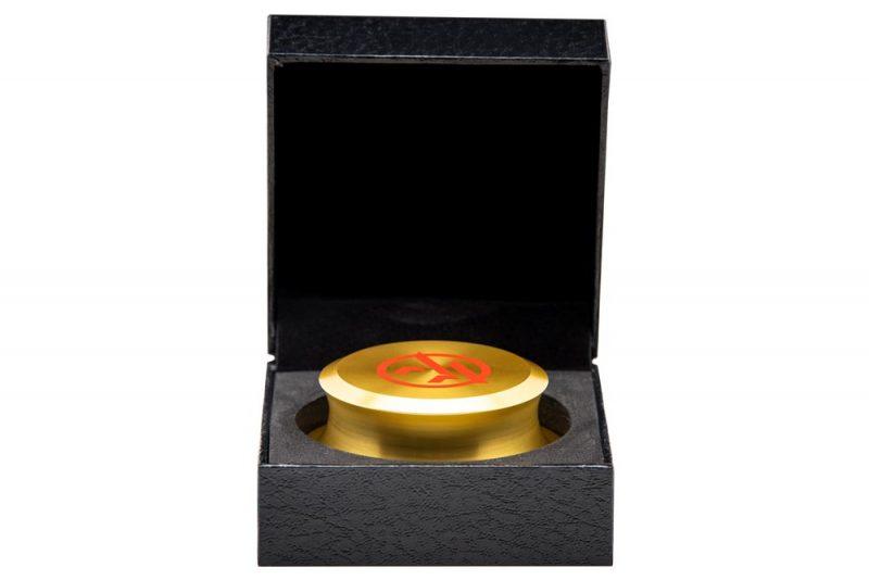 Vinyl Record Stabilizer golden in Packaging- Audio Anatomy