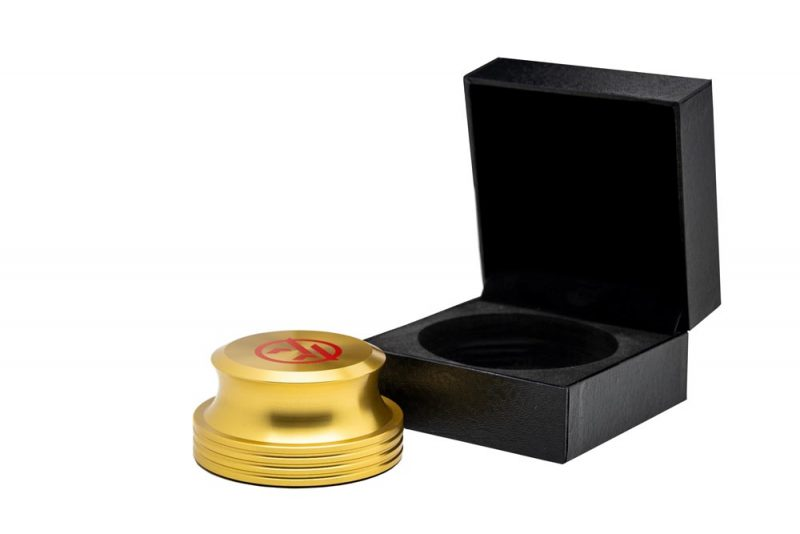 Vinyl Record Stabilizer golden with Packaging- Audio Anatomy