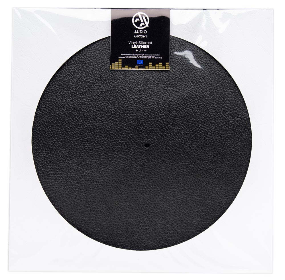 Vinyl Slipmat Leather Black 1,5 mm - Audio Anatomy