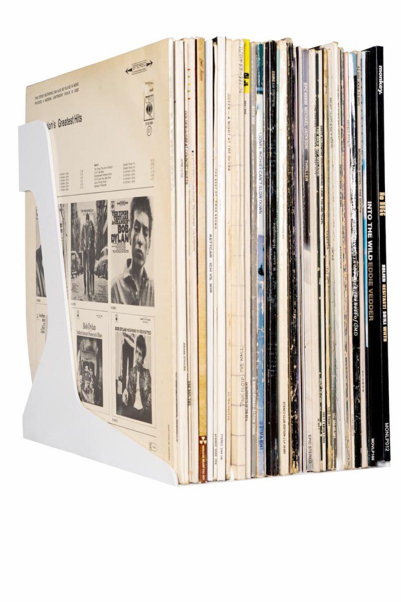 Vinyl Record Stand White