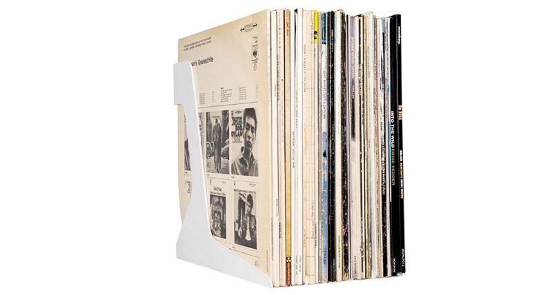 Bild des Schallplattenständer in Weiss